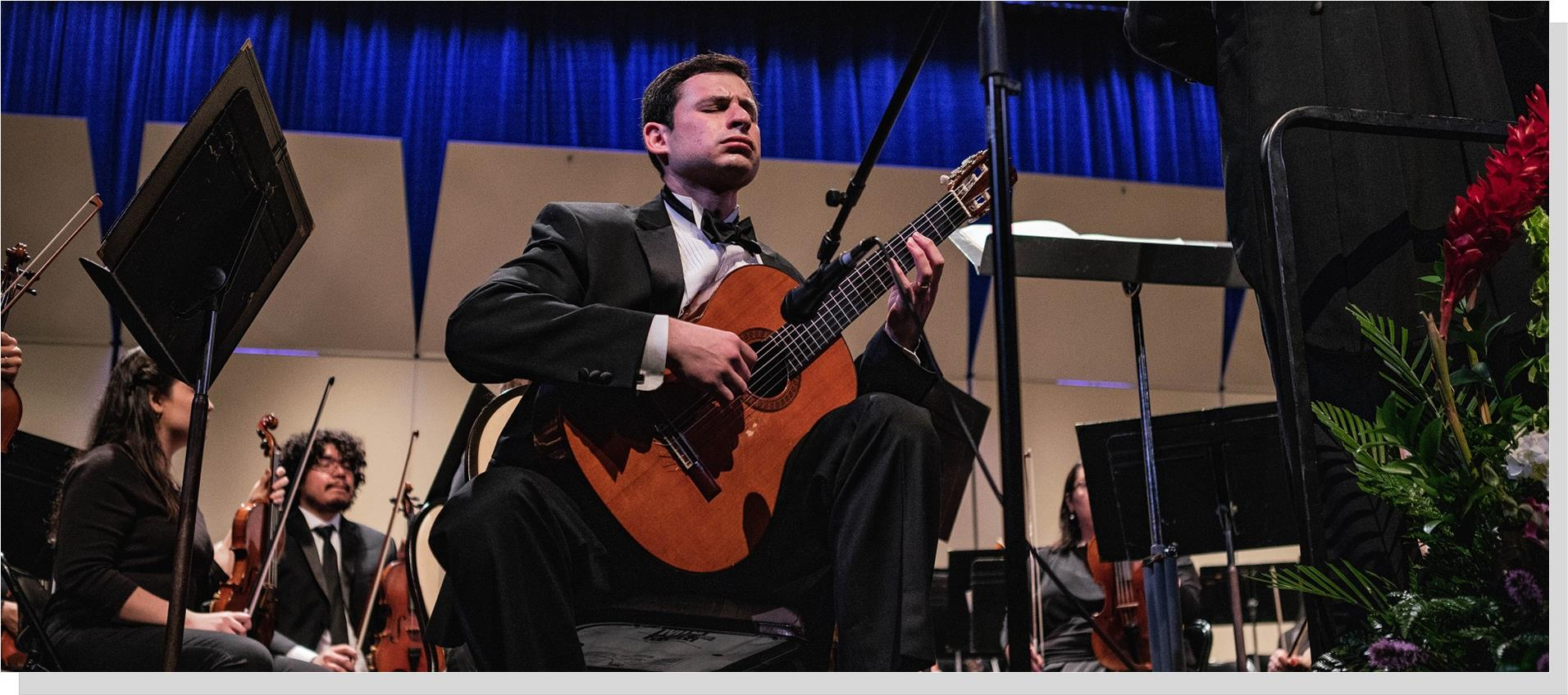 Matthew Trkula guitar performs with the NOVA Annandale Symphony Orchestra