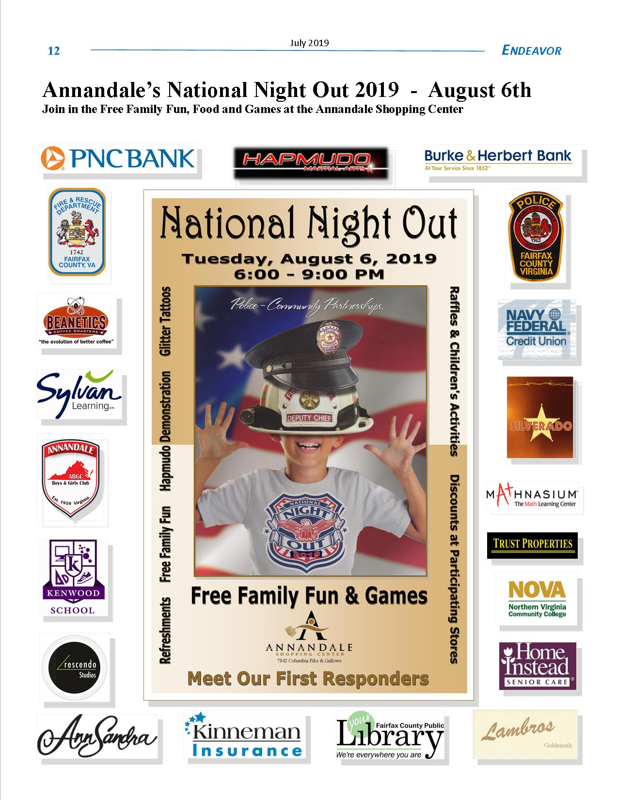 National NIght Out in Annandale 2019 Sponsors