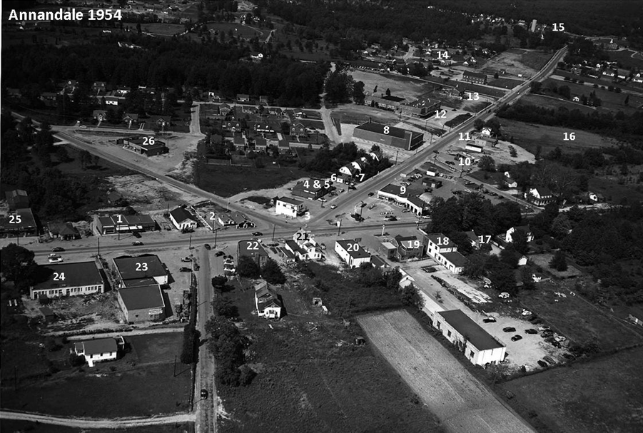 Annandale in 1954:   Photo is courtesy of the ACC photographic archive, with all rights reserved.