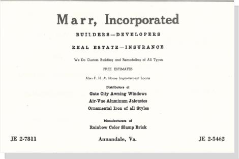 Marr Incorporated, Annandale, VA