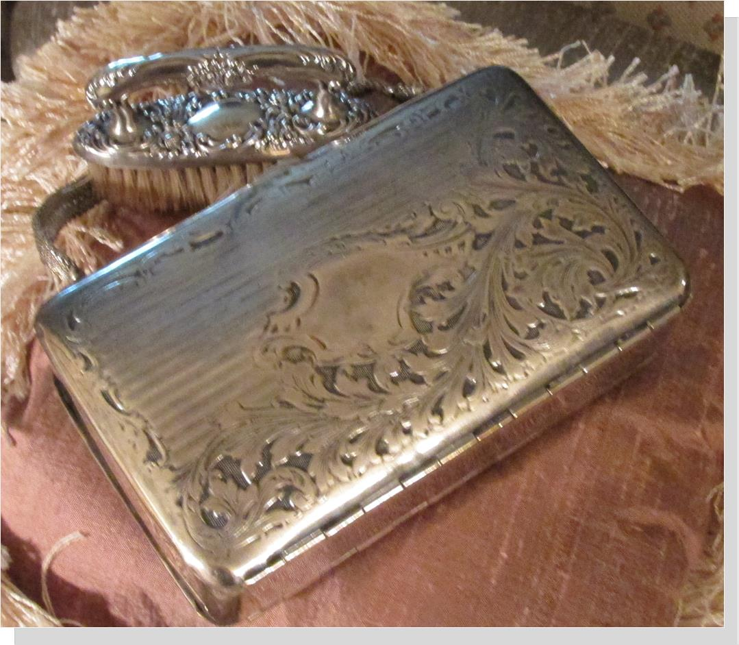 1854 Hand Engraved Silver Handbag with Silver Mesh Handle, photo by M. Callahan