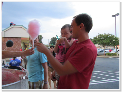 Cotton Candy, Popsicles, and Popcorn were distributed as movie treats at the Annandale Shopping Center.  Silverado's also provided their famous Salsa and Chips.