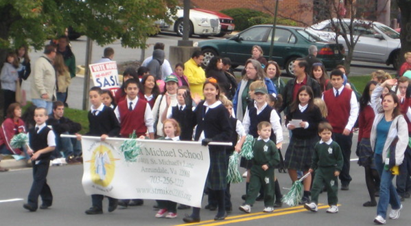 St. Michael's Catholic School participates in the Annandale Parade.